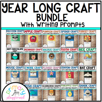 Year Long Craft Bundle With Writing Prompts/Pages