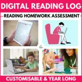 Year Long Digital Reading Log (Reading Diary / Journal)