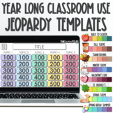 Year-Long Editable Jeopardy Template Google Slides and Powerpoint