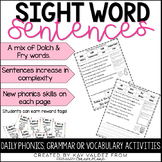 Sight Word Practice-Sight Word Fuency-Fluency Sentences-Brag Tags