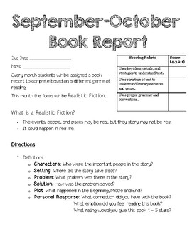 Year Long Genre Book Reports