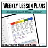 Year Long Google Doc & Microsoft Word Lesson Plan Templates [Google Resource}