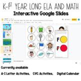 Year Long Google Slides Digital Activities K-1st