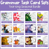 Year Long Grammar Task Cards BUNDLE for Back to School Activities