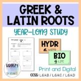Year-Long Greek & Latin Roots Study - Print & Digital