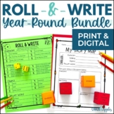 Year-Long Holiday Writing Activities Growing Bundle (Roll & Write)