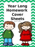 Year Long Homework Cover Sheets