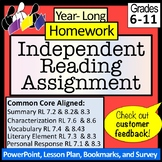 Homework: Year-Long, Independent Reading: NO PREP!