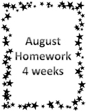 August Homework Preview