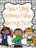 Year Long Informational Writing Pack