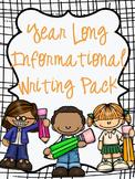 Year Long Informational Writing Pack
