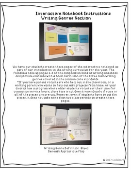 Year-Long Interactive Writing Notebook Grades 5-8