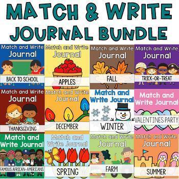 Year Long Journal Bundle: Match and Write
