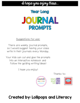 Year Long Journal Prompts