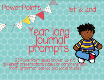 Year Long Journal Prompts for Every Subject - NO PREP - NO COPIES