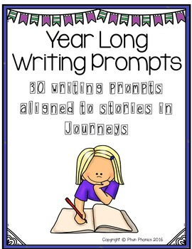 Year Long Journeys Writing Prompts