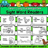 Year Long Kindergarten Sight Word Readers Bundle