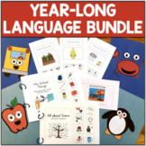Year-Long Language Therapy Activities BUNDLE with Lots of Visuals