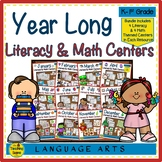 Year Long Monthly Literacy & Math Centers Bundle