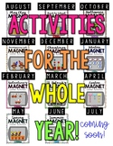 Year Long Magnet Center Bundle Activities