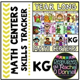 Year Long Math Centers Skill Tracker Kindergarten