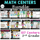 Third Grade Full Year Bundle Math Centers, Math Centers fo