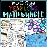 Year-Long Math PRINT & GO Bundle!