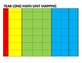 Year Long Math Unit Mapping