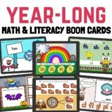 Year-Long Math and Literacy Boom Cards Digital Bundle (Dis