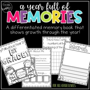 Year Long Memory Book with Monthly Writing Pages