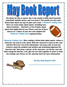 Year Long Monthly Book Report Set
