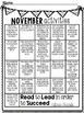 Year Long Monthly Homework Calendars
