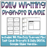Year Long Daily Writing Prompts BUNDLE {Includes DIGITAL G