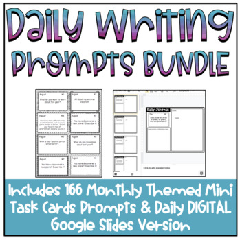 Year Long Daily Writing Prompts