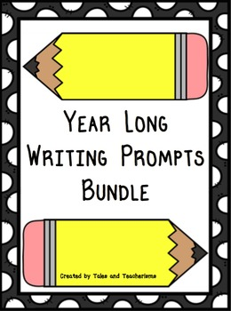 Year Long Monthly Writing Prompts Bundle