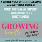 Year Long Music Lesson Plans for Early Elem. (based on Cor