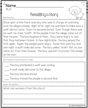 Year Long No Prep Math and Literacy Mega Packet for First Grade (Common Core)