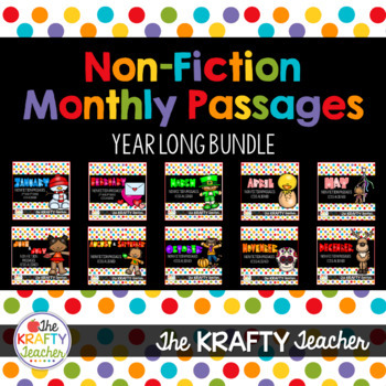 Monthly Nonfiction Reading Comprehension Passages