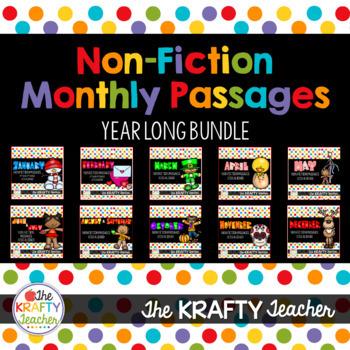 Monthly Nonfiction Reading Comprehension Passage Bundle