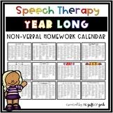 Year-Long Non-Verbal Homework Calendar Bundle