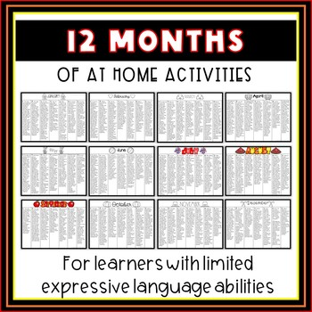 Speech Therapy Homework | Nonverbal Speech Therapy Activities