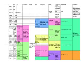 Year Long Pacing Calendar - Hawaii Grade 5