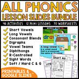 ALL YEAR Phonics Google Slides Activities and Lesson MEGA BUNDLE