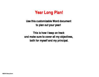Year Long Plan