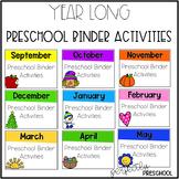 Year Long Preschool Binder Activities
