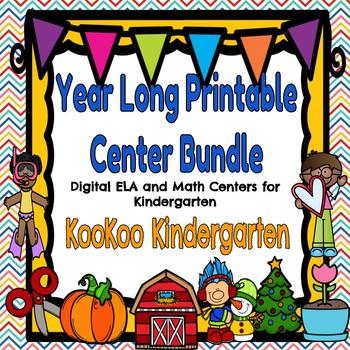 Year Long Printable Center Bundle