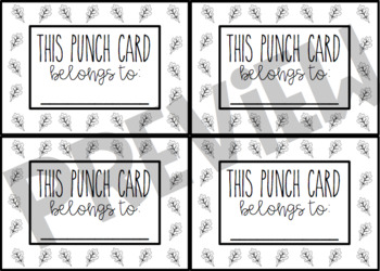 Year Long Punch Card Bundle