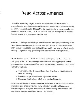 Year Long Reading Group Project Geography Fluency Reading Log