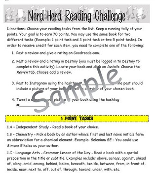 Year Long Reading Point Challenge