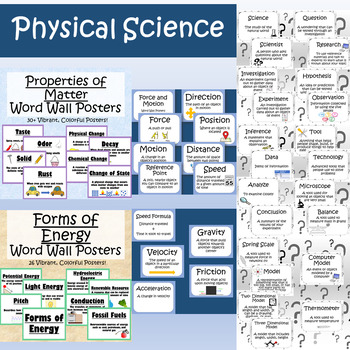 Year Long Science Word Wall Bundle (Physical, Earth, Life)